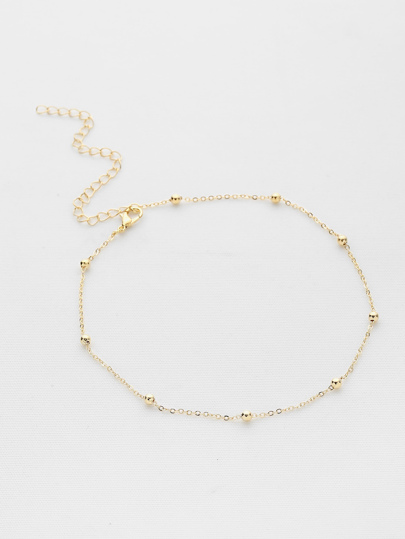 Beaded Design Chain Choker