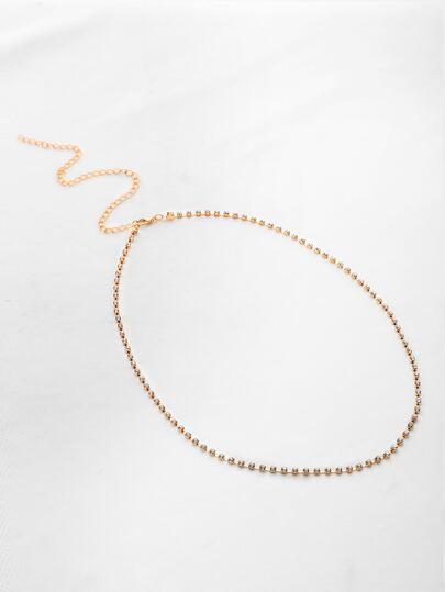 Rhinestone Detail Delicate Thigh Chain