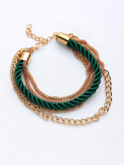 Rope Detail Stacking Layered Bracelet