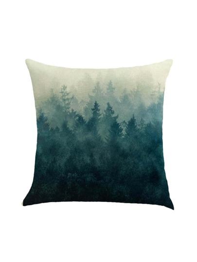 Funda de almohada con estampado de bosque