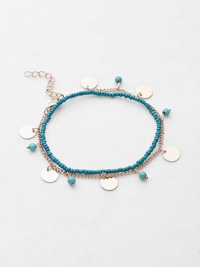Zwei Tone Perlen Armband / Knöchel