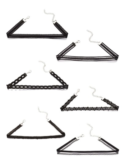 Multi Shaped Choker Set