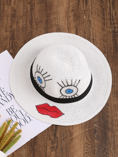 Face Print Trilby Hat