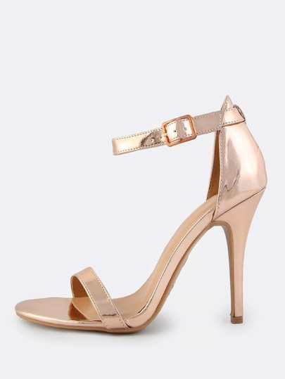 Single Band Ankle Strap Heel ROSE GOLD