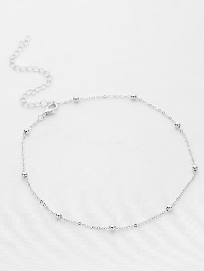 Beaded Detail Chain Choker