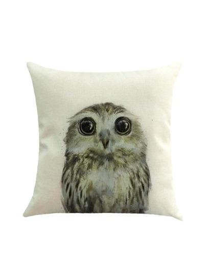 Cute Owl Print Housse d'oreiller