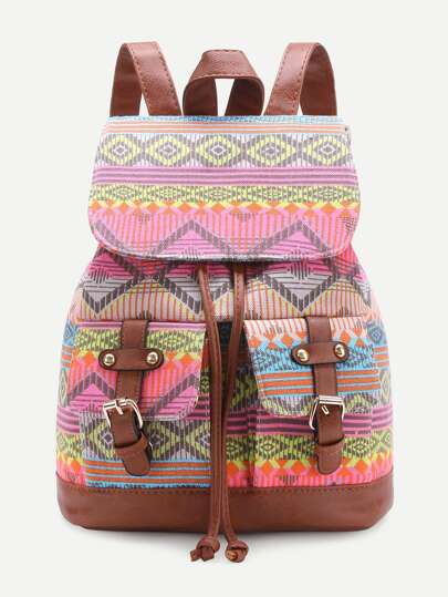 Front Double Pocket Boho Backpack