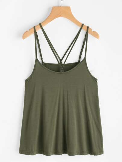 Double Strap Swing Cami Top