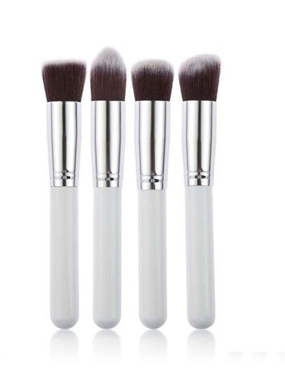 Set brocha de maquillaje gruesa con detalle metálico