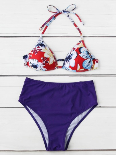 Set bikini con cintura alta mix and match