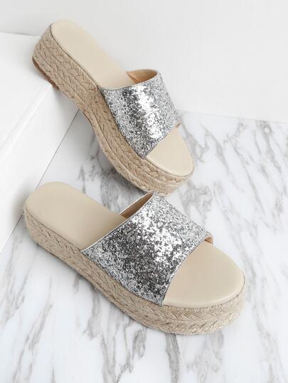 Sandalias con plataforma con diseño de brillo