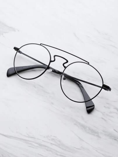 Bridging lunettes rondes