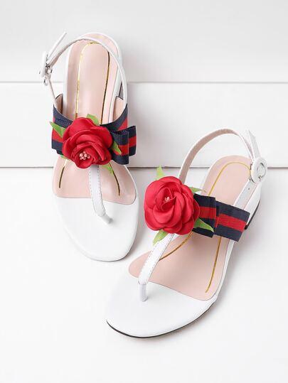 Sandales fleur Agrémentée Thong Falt
