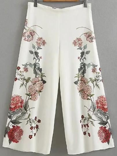 Floral Palazzo Bein Hose
