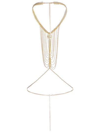 Layered Chain Choker Body Harness