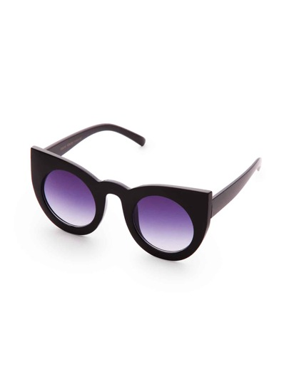 Contrast Frame Cat Eye Sunglasses