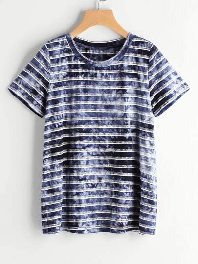 Tie Dye Striped T-shirt