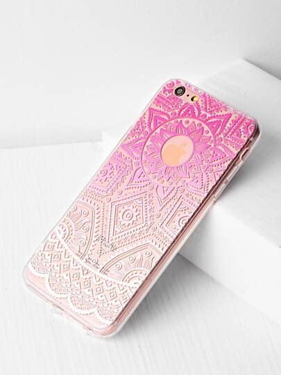 Ombre Tribal Pattern Clear iPhone 6 Plus / 6s Plus Tasche