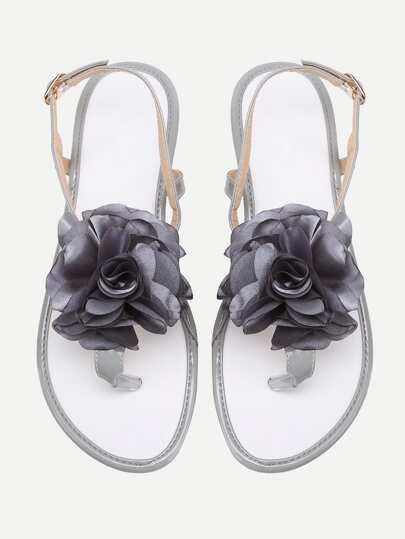 Flower Toe Post Sandalen