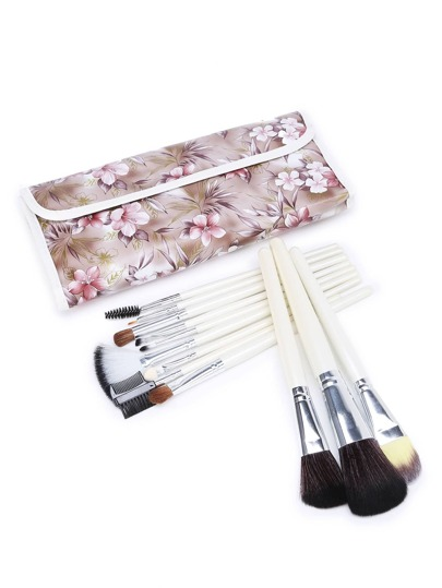 Ensemble de brosse à maquillage 12pcs Calico Print