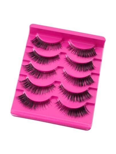 Natural False Eyelashes Set 5 Pair