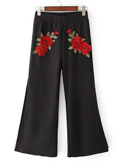 High Split Side Wide Leg Pants