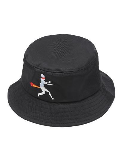 Cappello della benna con Ricamo grafico