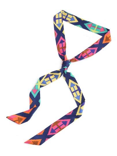 Echarpe imprimé de la figure géométrique