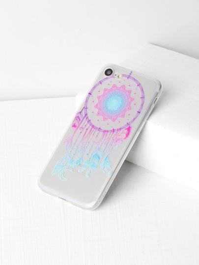 Cas d'iPhone 7 de motif tribal et plume
