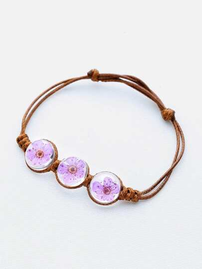 Glass Flower Knot Bracelet