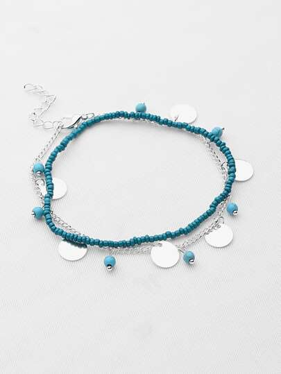 Two Tone Double Layered Beaded Bracelet