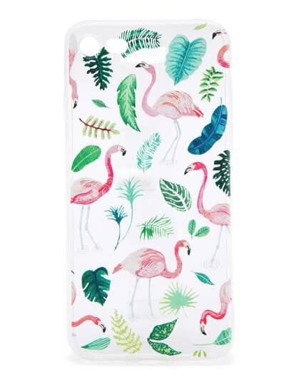 Flamingo e Piante Stampa iPhone 7 Caso