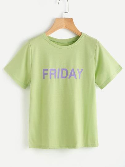 Friday Print Tee