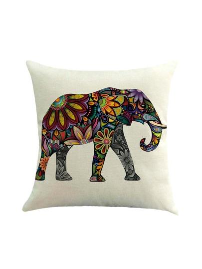 Elefanten-Druck-Kissenbezug-Abdeckung