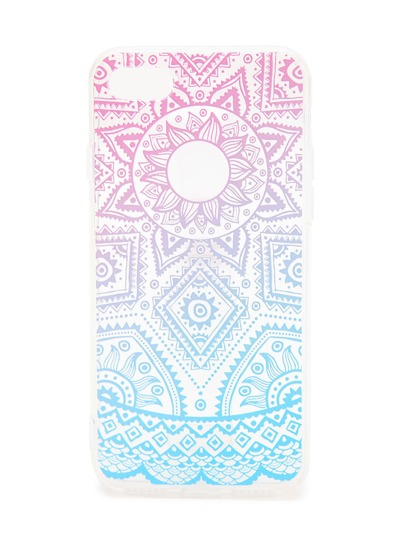 Ombre Geometrisches Muster iPhone 7 Fall