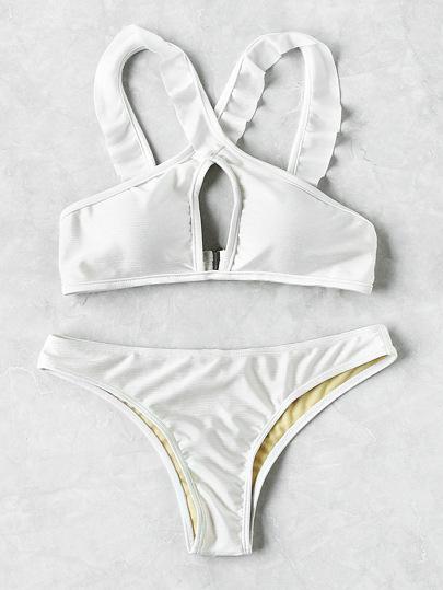 Set di bikini allacciato al collo