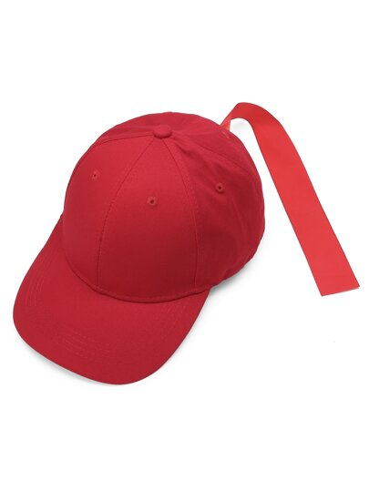 Plain Baseball Cap With Strap