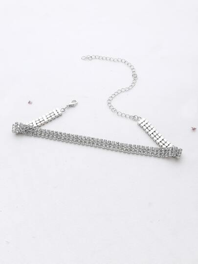 3 Row Strass Choker