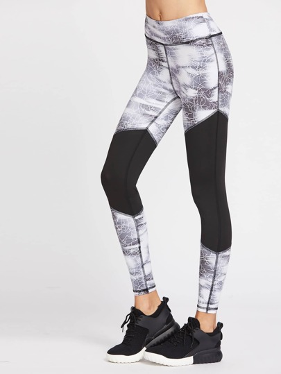 Active Cut And Sew Gym Leggings