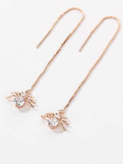 Boucles d'oreilles en diamant en forme de araignée