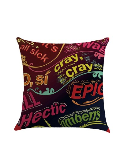 Graphic Print Pillowcase Cover