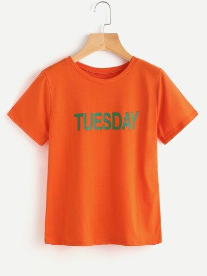 Camiseta estampada de Tuesday