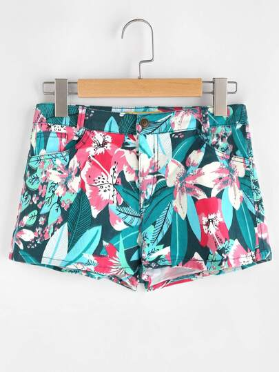 Floral Loose Casual Shorts