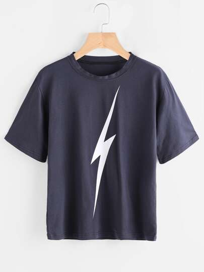 Tee-shirt imprimé du éclair