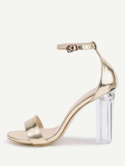 Sandales à talons Lucite