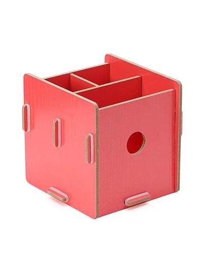 Caja de almacenamiento de maquillaje de madera