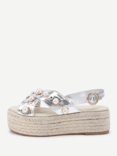Sandalias con perla