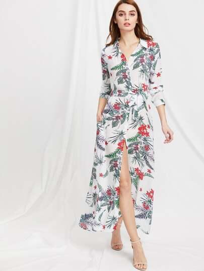Vestito camicetta con stampa floreale