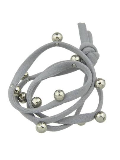 Bande di capelli elasticizzati - grigio