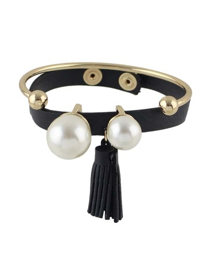 Bracelet en cuir Pu blond (2pcs/ensemble )